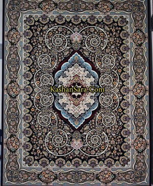 فرش کاشان طرح فریبا-1200 شانه تراکم 3600