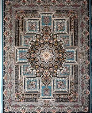 فرش درخشان آبی-1200 شانه تراکم 3600