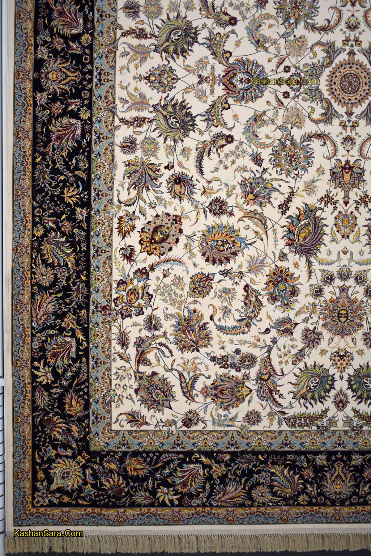 خرید فرش ماشینی کاشان طرح افشان سلطنتی
