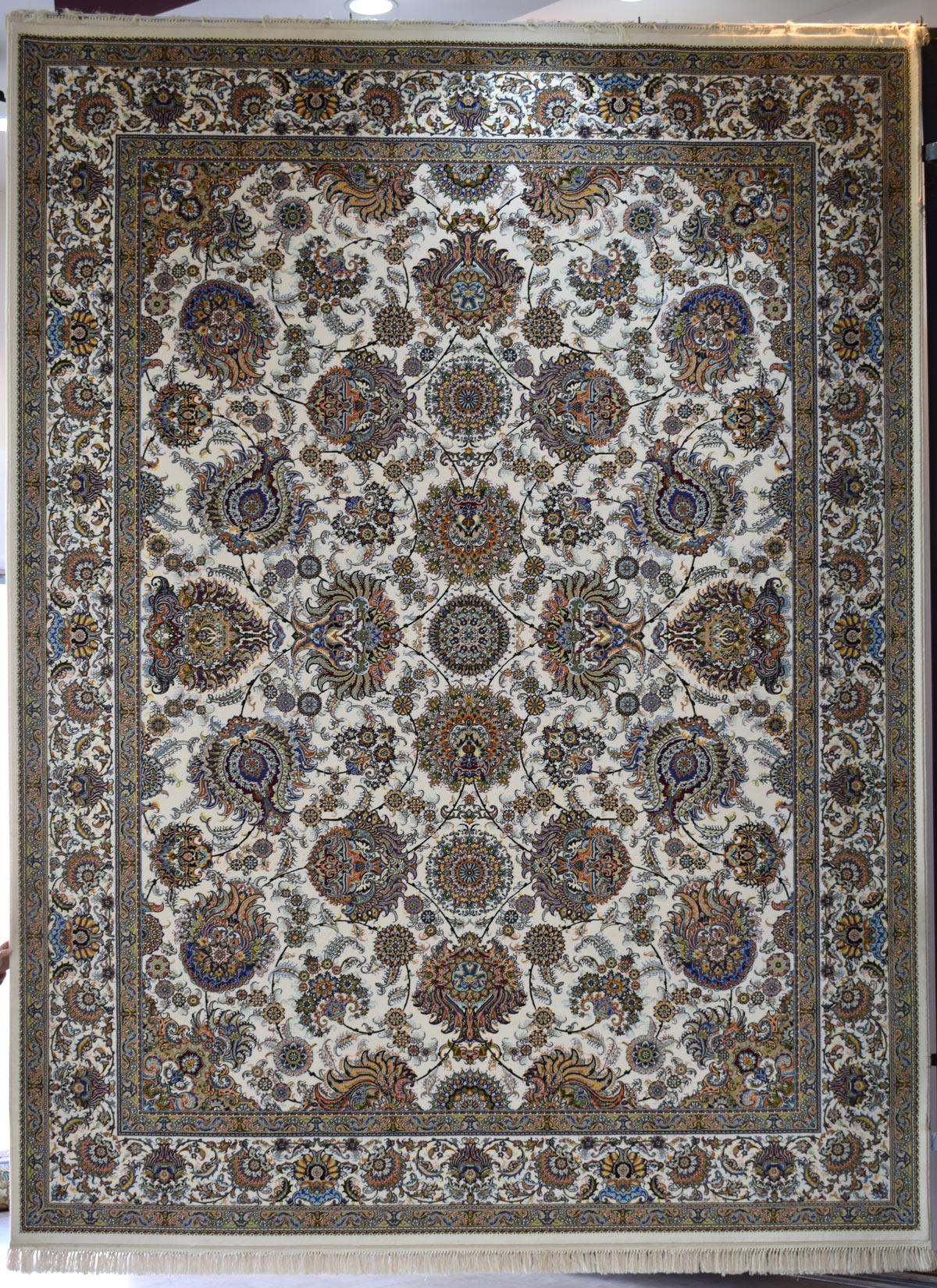فرش کاشان طرح باغ بهشت ۷۰۰ شانه