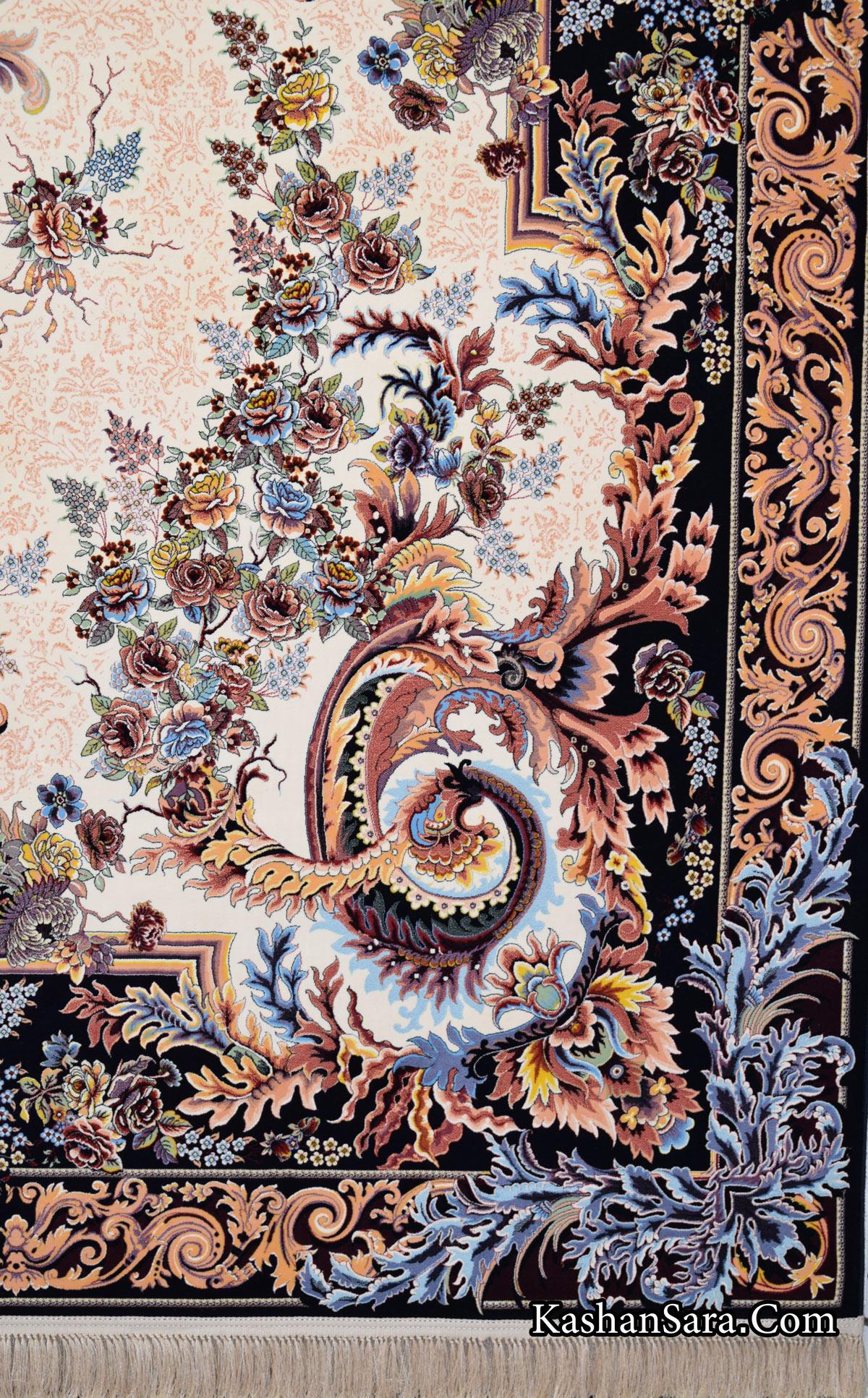 فرش ۱۲۰۰ شانه کاشان نقشه ماهریس
