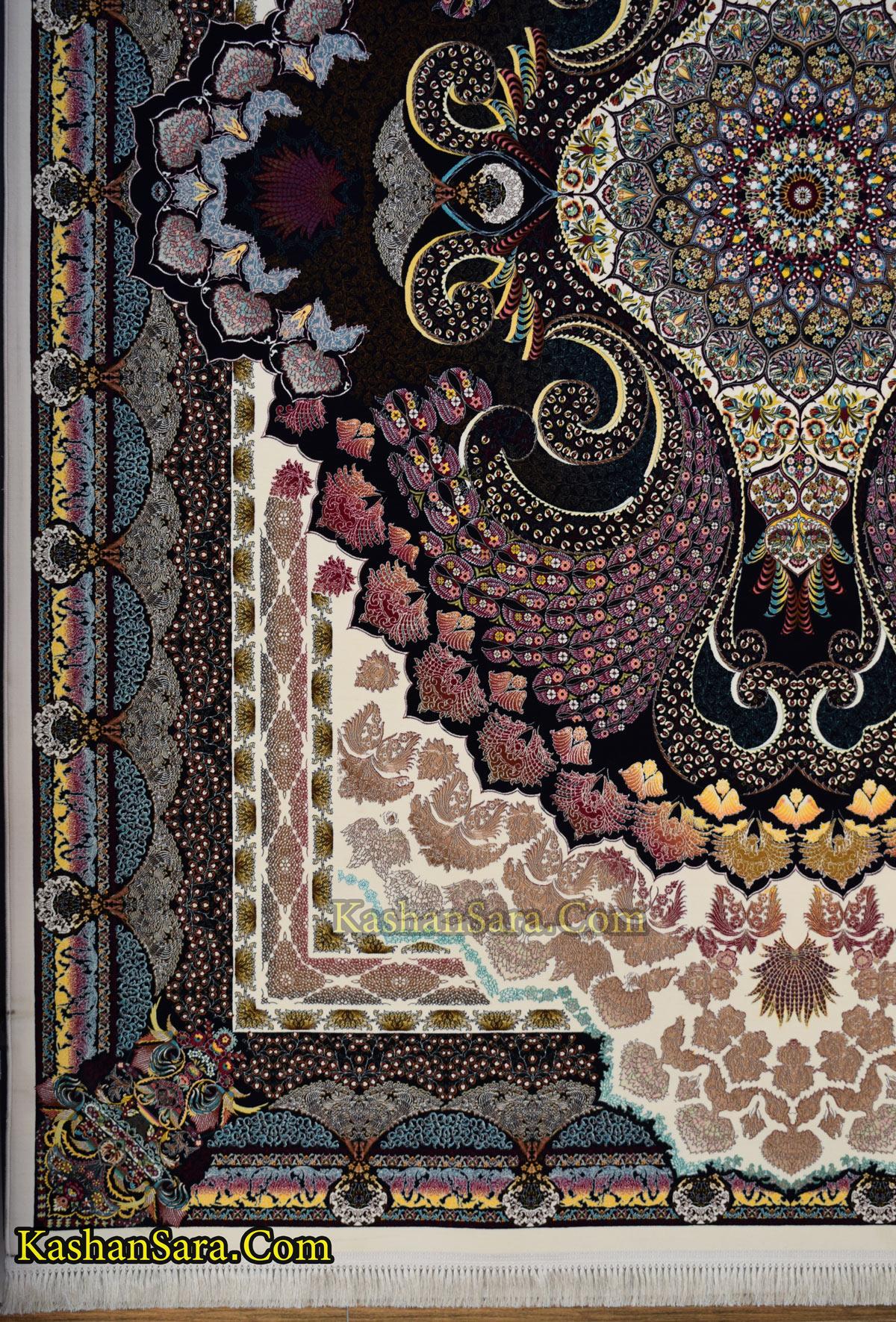 فرش طرح طاووس ۱۲۰۰ شانه