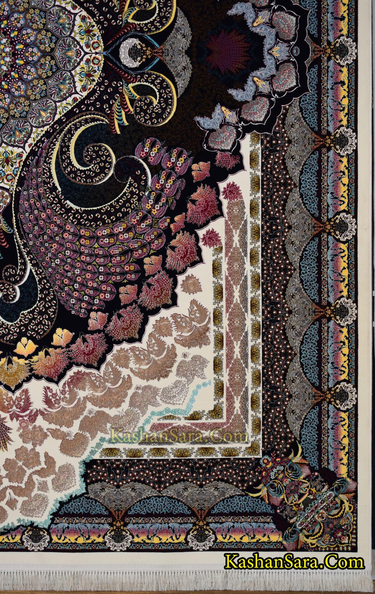 قیمت فرش ماشینی ۱۲۰۰ شانه طرح طاووس