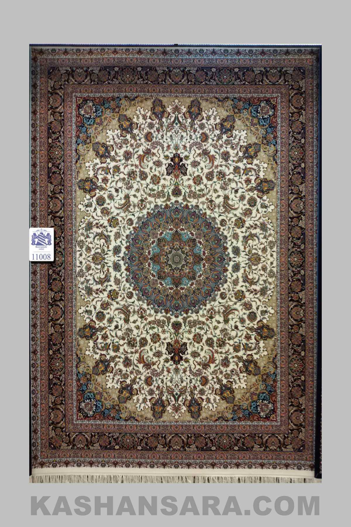 فرش ۱۰۰۰ شانه کاشان نقشه اصفهان