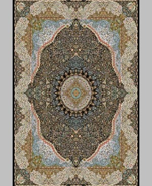 Yalda-1200-ابریشم کرمان سرمه ای - Abrisham Kerman.S-12001800