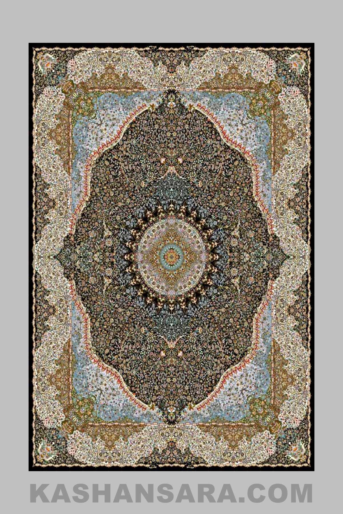 Yalda-1200-ابریشم کرمان سرمه ای – Abrisham Kerman.S-12001800