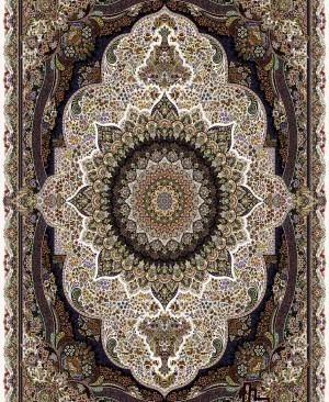 فرش مدل پرهام رنگ کرم رنگبندی عالی از برندی معتبر و با کیفیت