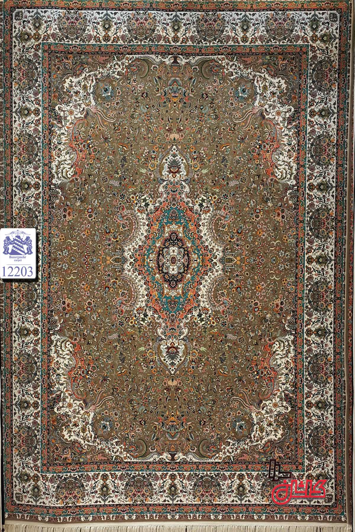 قیمت فرش ۱۲۰۰ شانه کد ۱۲۲۰۳