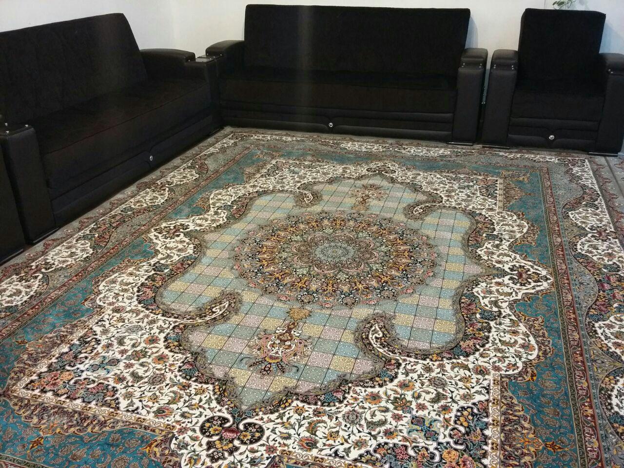 فرش کاشان ۱۲۰۰ شانه تراکم ۳۶۰۰ نقشه زیبا و خاص سالار موشی