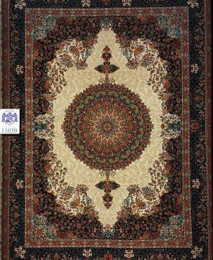 قیمت فرش 1000 شانه ده رنگ تراکم 3000 فرش ماشینی کاشان