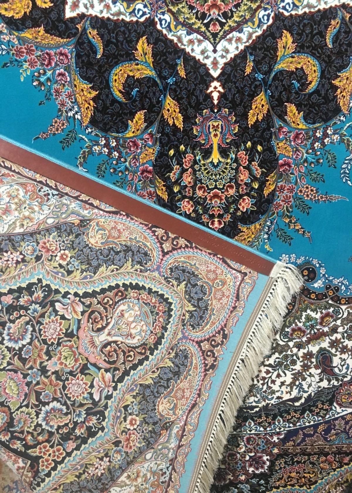 فرش ۱۰۰۰ شانه تراکم ۳۰۰۰ طرح الهام فسفری پشت فرش