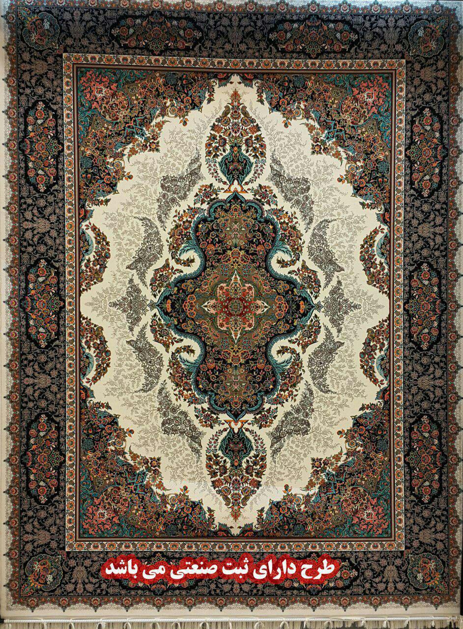 فرش کاشان ۱۲۰۰ شانه تراکم ۳۶۰۰ کد زیبا و پرفروش بزرگمهر
