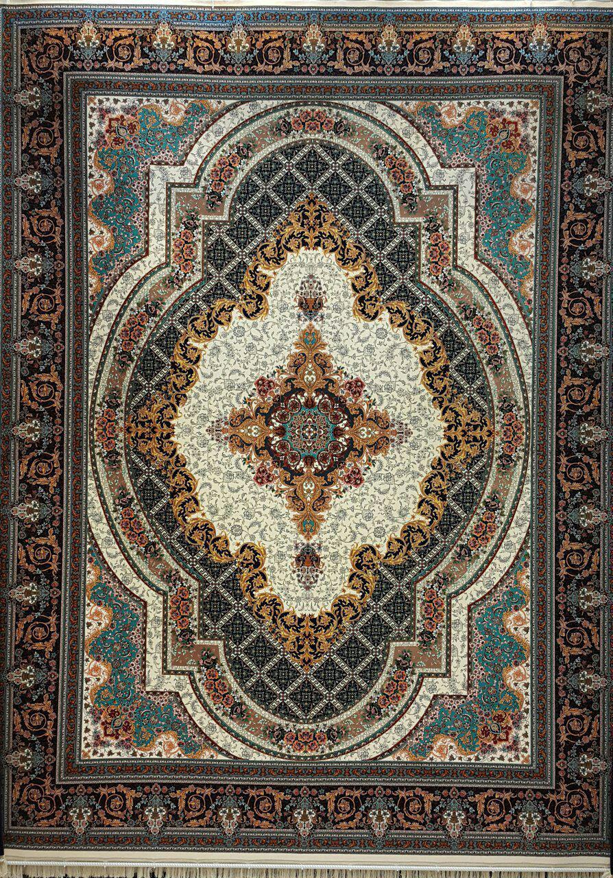 قیمت فرش ۱۲۰۰ شانه طرح زرنگار