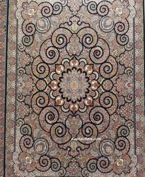فرش 700 شانه میترا سرمه ای تراکم 2550 بافت فرش کاشان
