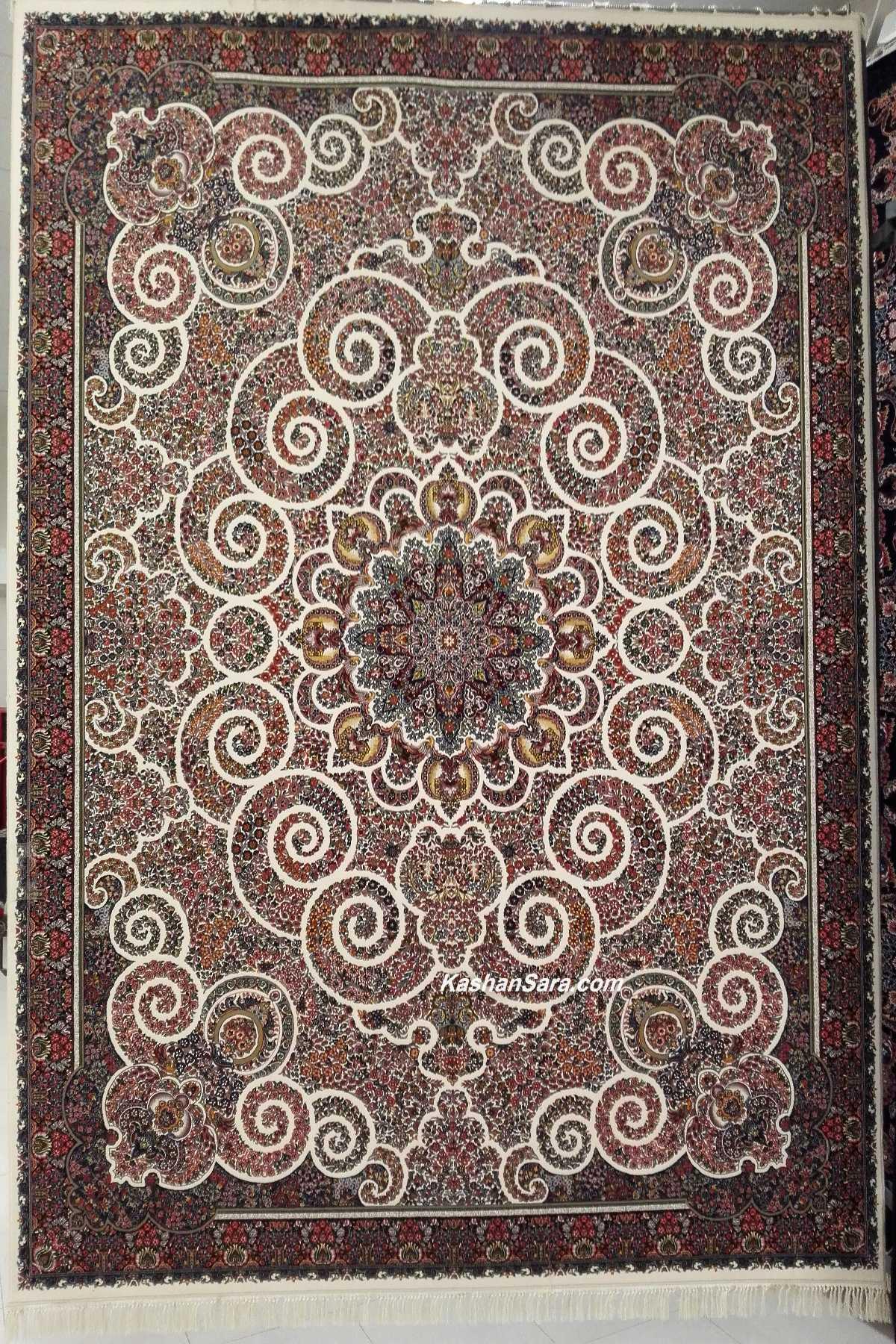 خرید فرش ماشینی ۷۰۰ شانه طرح میترا کرم