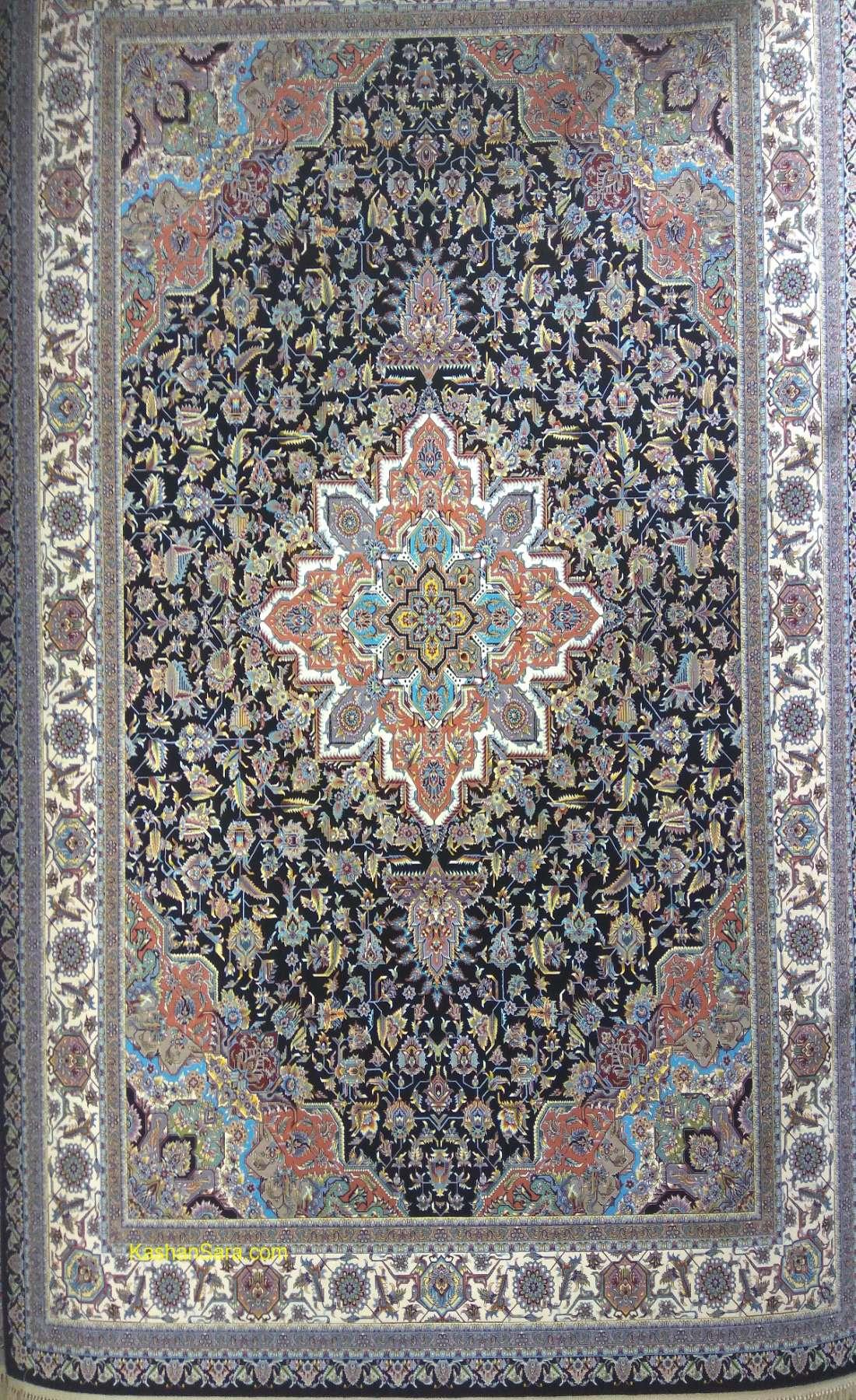 فرش کاشان ۱۲۰۰ شانه طرح هریس