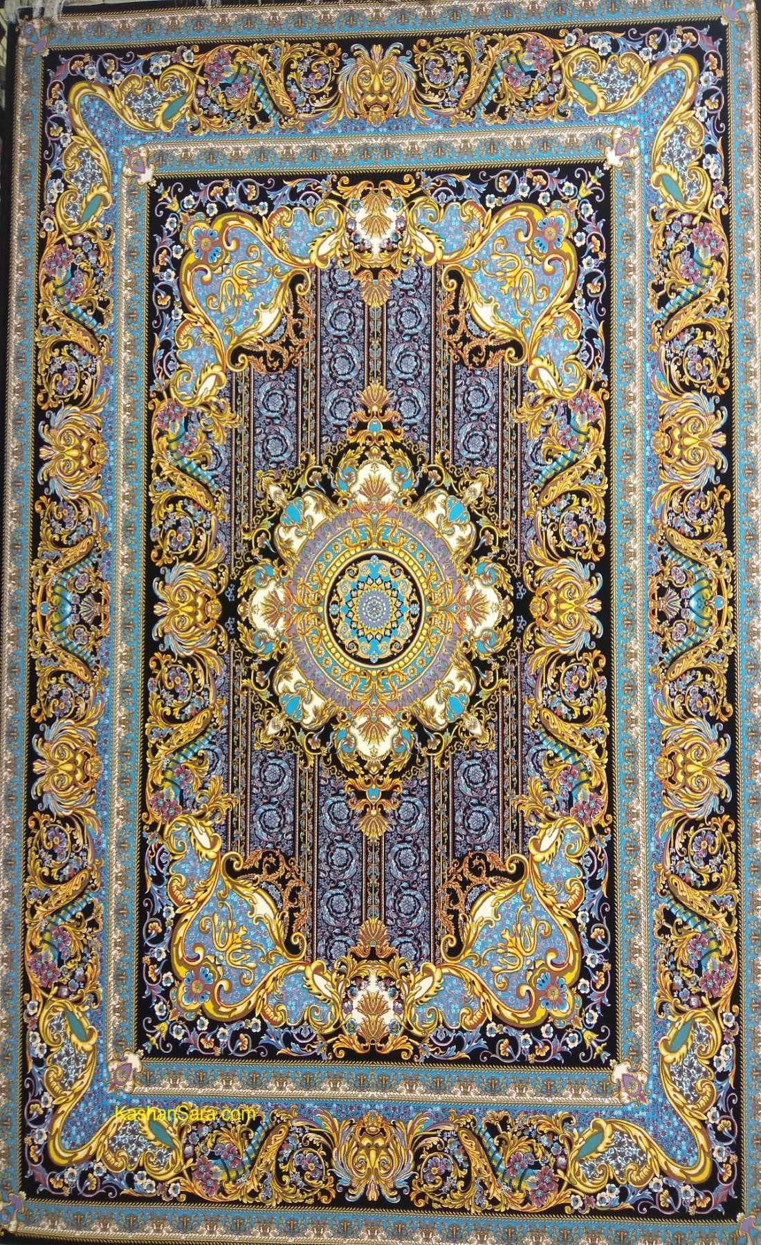 فرش کاشان ۱۲۰۰ شانه طرح فرانسوی (سلطان)