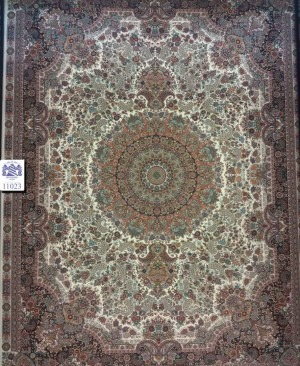 فرش ماشینی کاشان 1000 شانه کد 11023