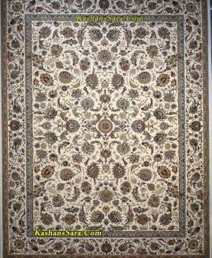 فرش 1200 شانه کاشان نقشه افشان سلطنتی