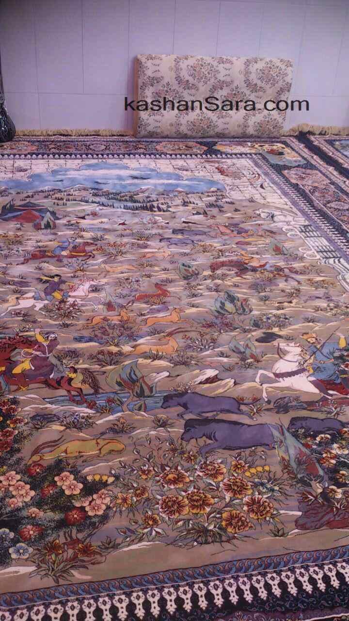 خرید فرش نقشه شکارگاه ۱۲۰۰ شانه