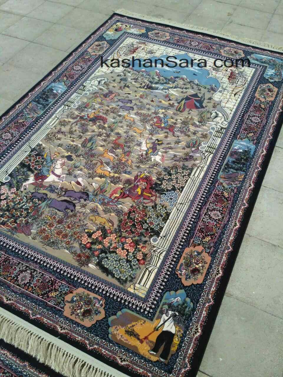 نمای زمین فرش نقشه شکارگاه ۱۲۰۰ شانه