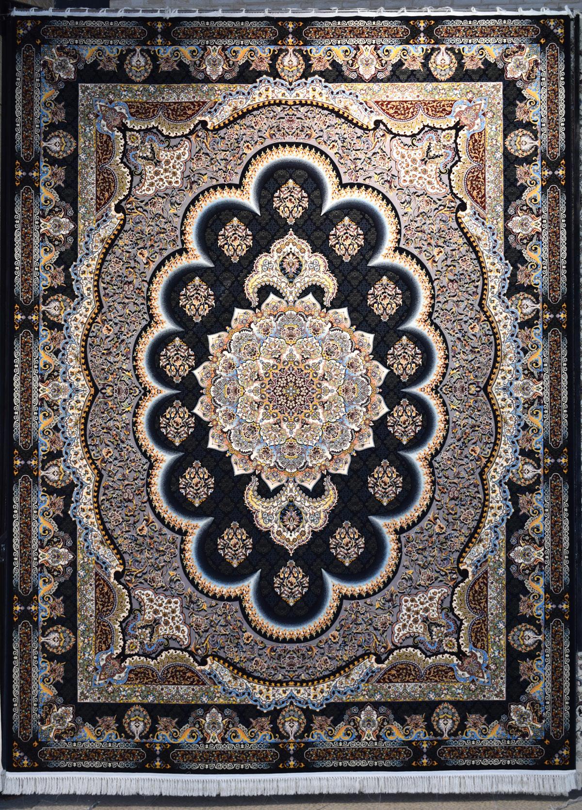 فرش ماشینی کاشان ۱۲۰۰ شانه طرح سامی