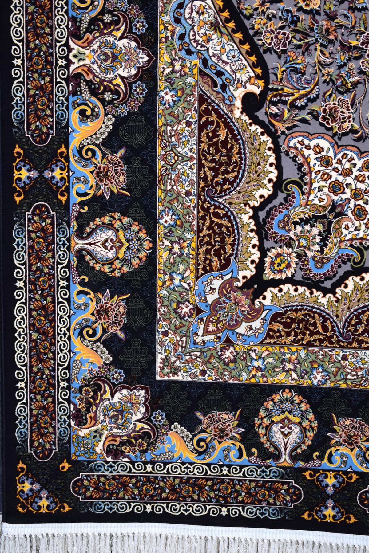 فرش ماشینی ۱۲۰۰ شانه کاشان طرح سامی