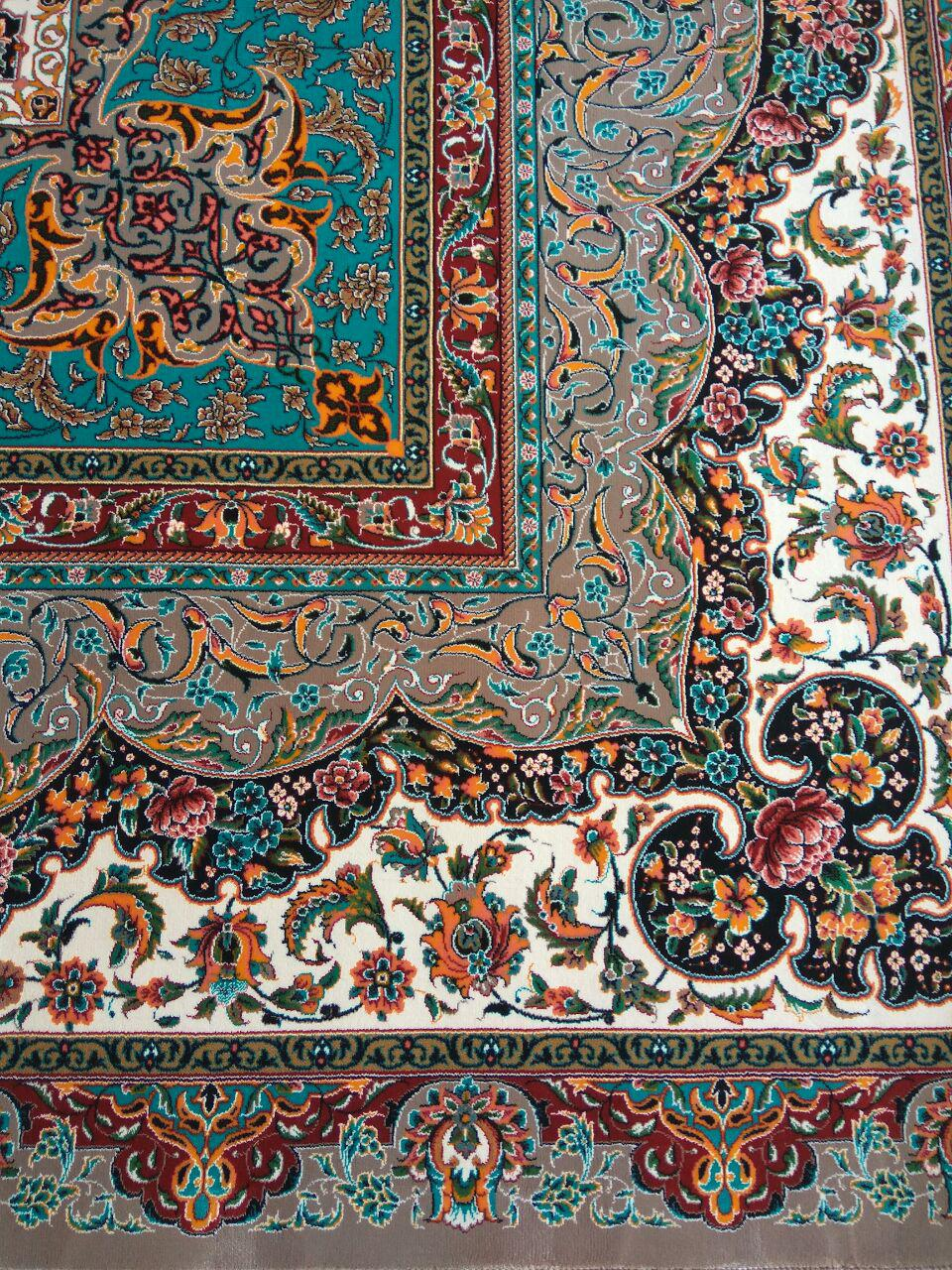فرش ۱۲۰۰ شانه کاشان طرح و نقشه سالار