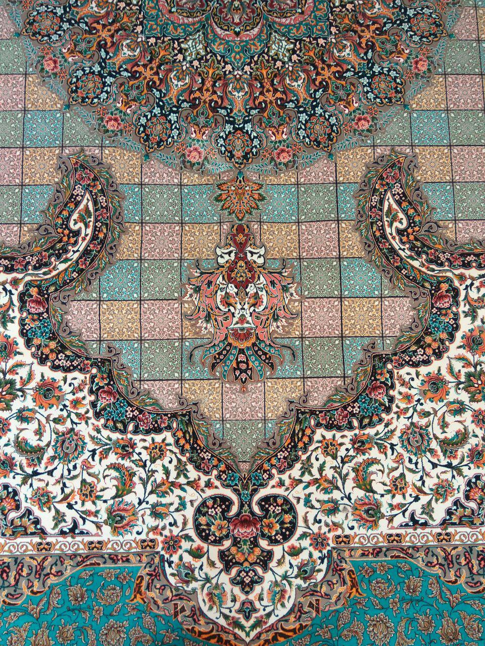 فرش کاشان ۱۲۰۰ شانه نقشه سالار