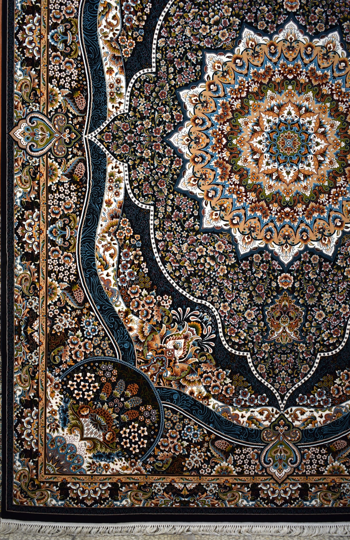 فرش ۷۰۰ شانه کاشان نقشه رضوان