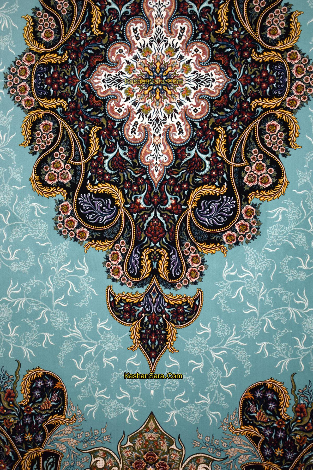 خرید فرش ماشینی کاشان نقشه شهرزاد ۱۰۰۰ شانه