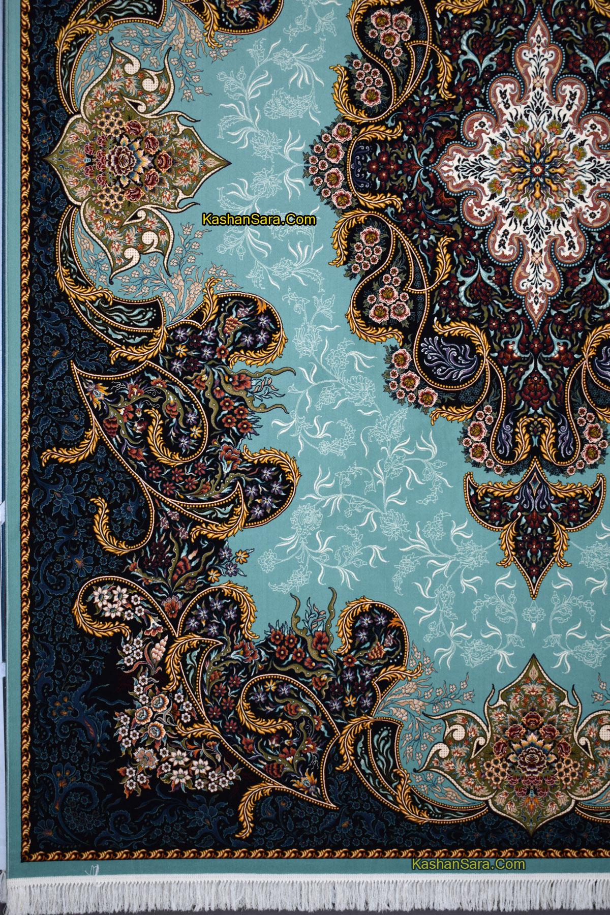 فرش ماشینی ۱۰۰۰ شانه کاشان نقشه شهرزاد
