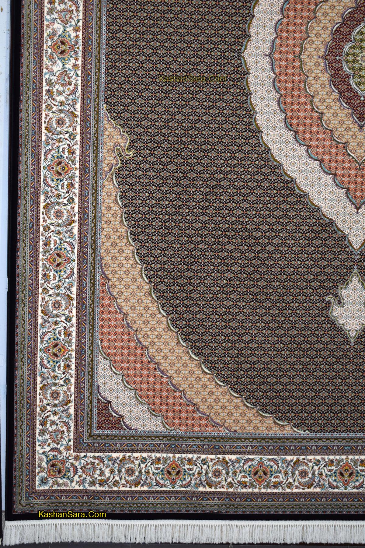 فرش ۱۰۰۰ شانه ده رنگ واقعی طرح ریز ماهی