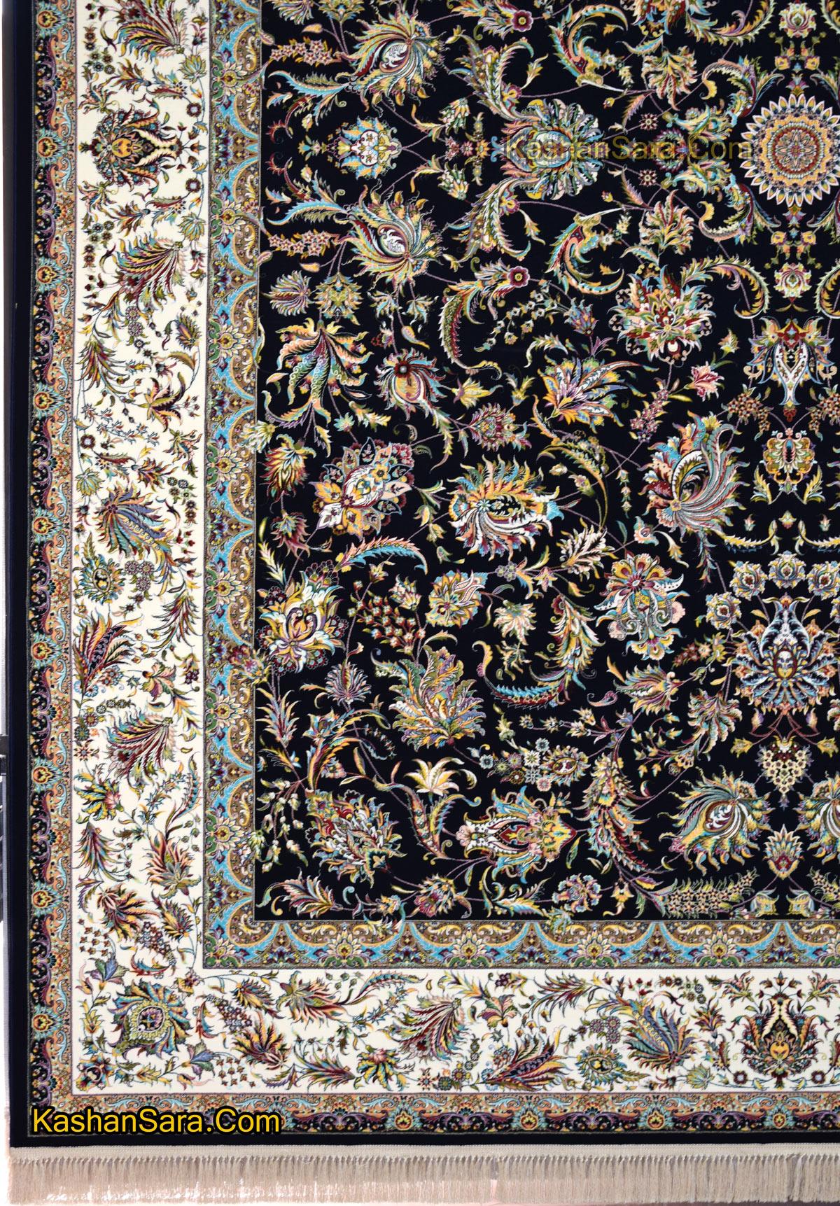 فرش کاشان ۱۲۰۰ شانه طرح افشان سلطنتی