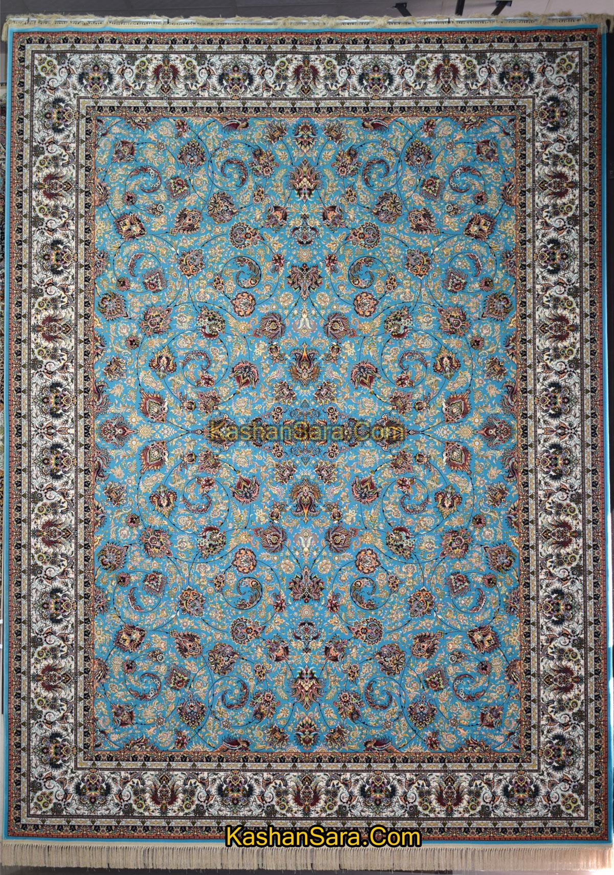 فرش افشان یادگار آبی ۱۲۰۰ شانه