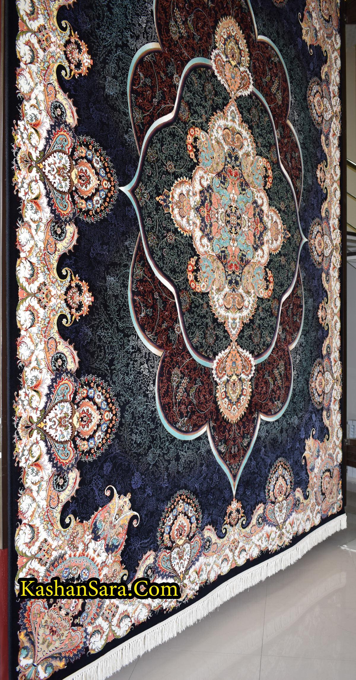 خرید اینترنتی فرش ماشینی کاشان طرح پانیذ