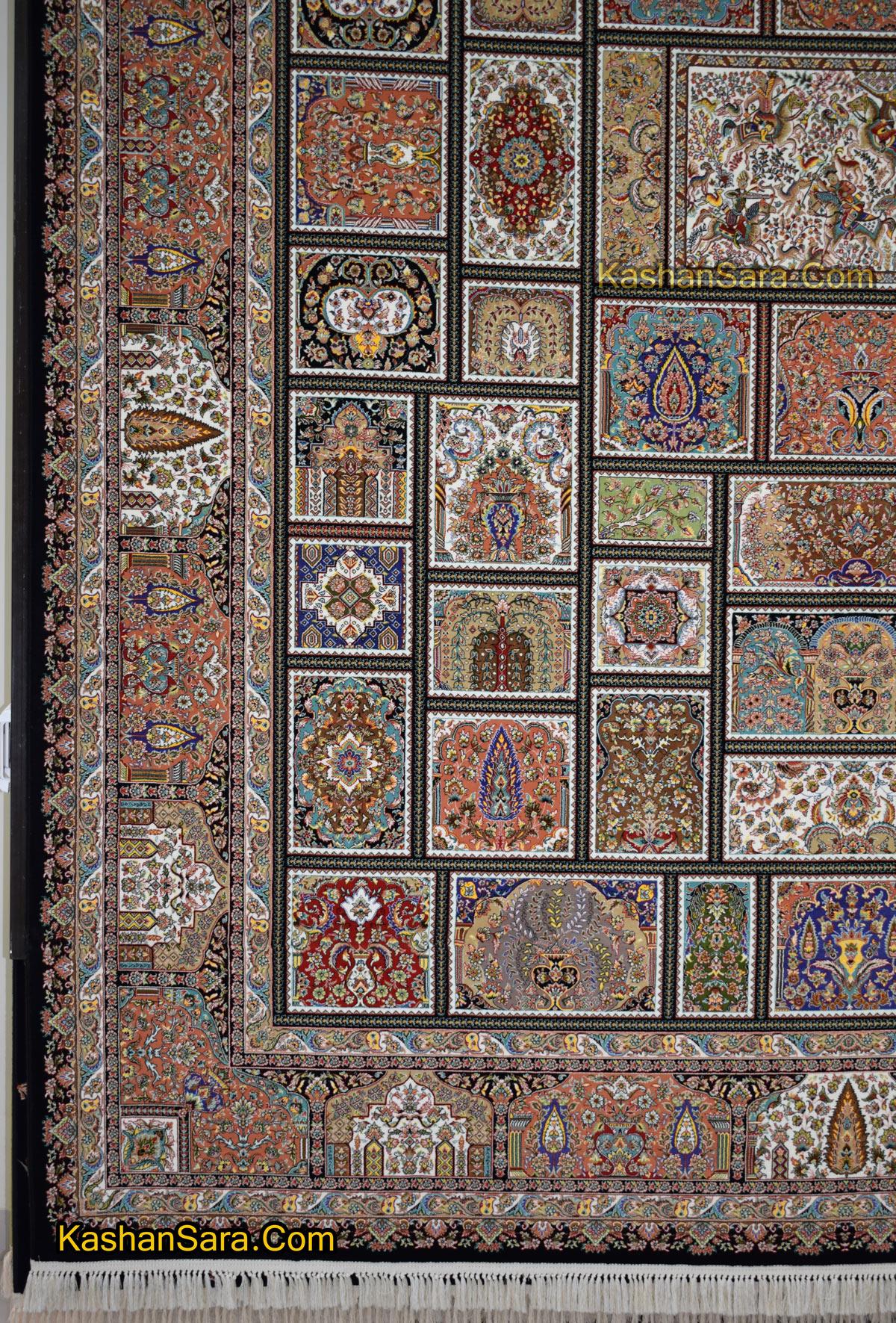 قیمت فرش طرح خشتی ۱۰۰۰ شانه تراکم ۳۰۰۰