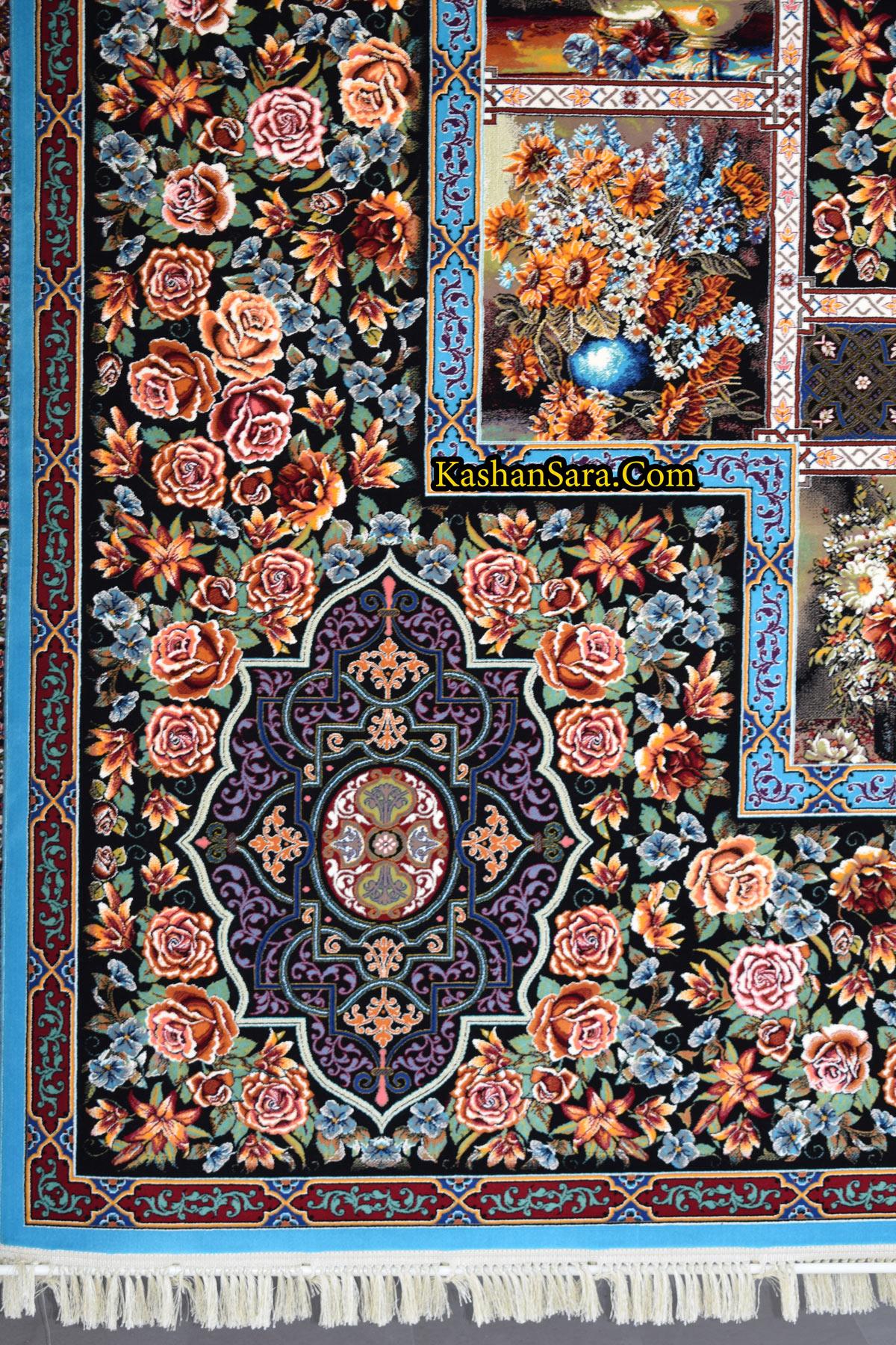قیمت فرش ۱۰۰۰ شانه تراکم ۳۰۰۰ نقشه باغ ارم