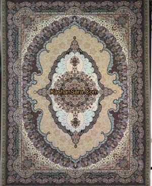 فرش کاشان-طرح اساطیر بژ 1200 شانه