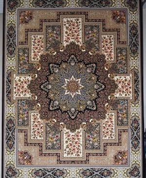 فرش کاشان- 1200 شانه تراکم 3600 نقشه درخشش