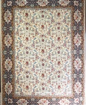 فرش کاشان-1200 شانه -تراکم 3600