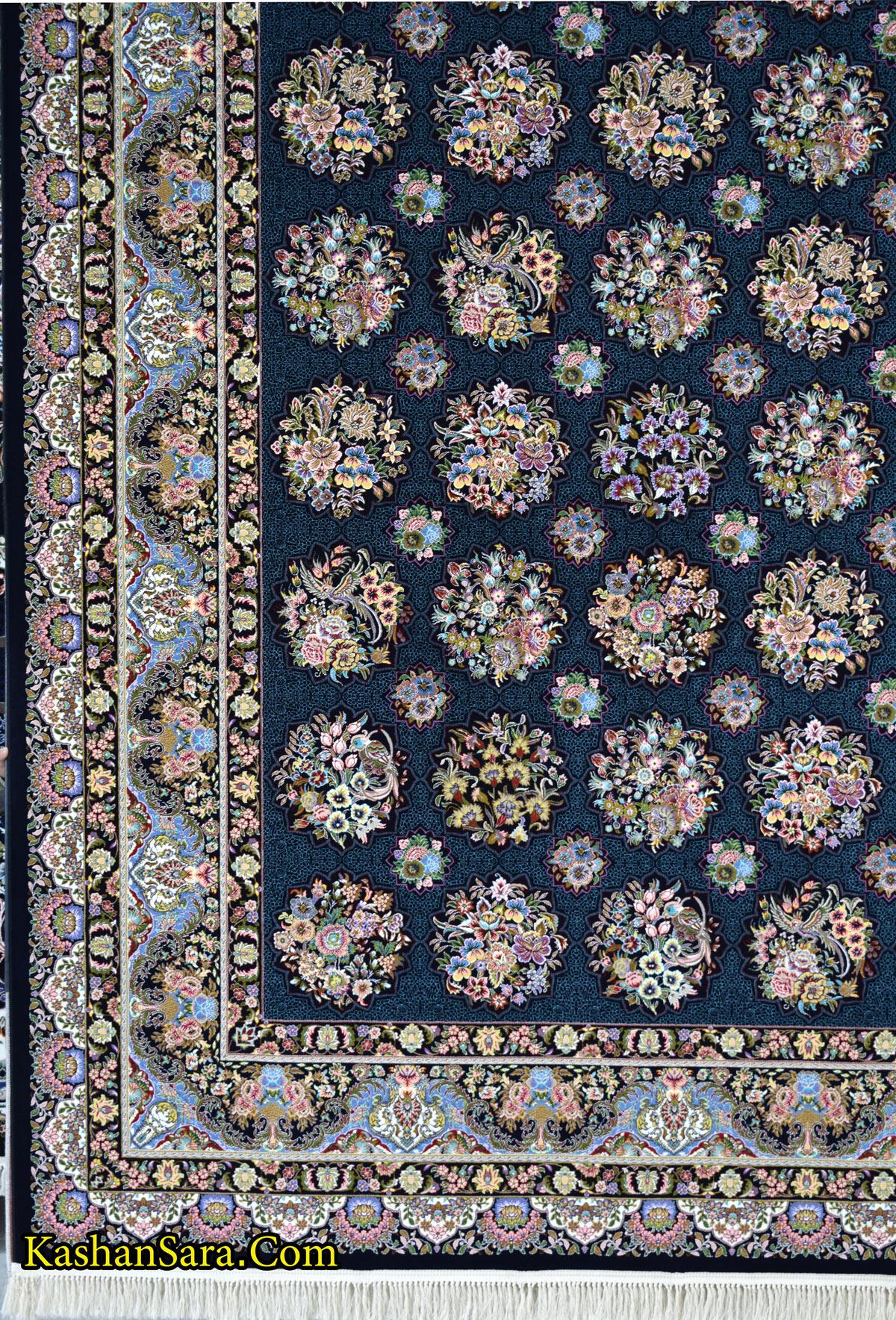 خرید فرش ماشینی کاشان طرح ستاره فروزان
