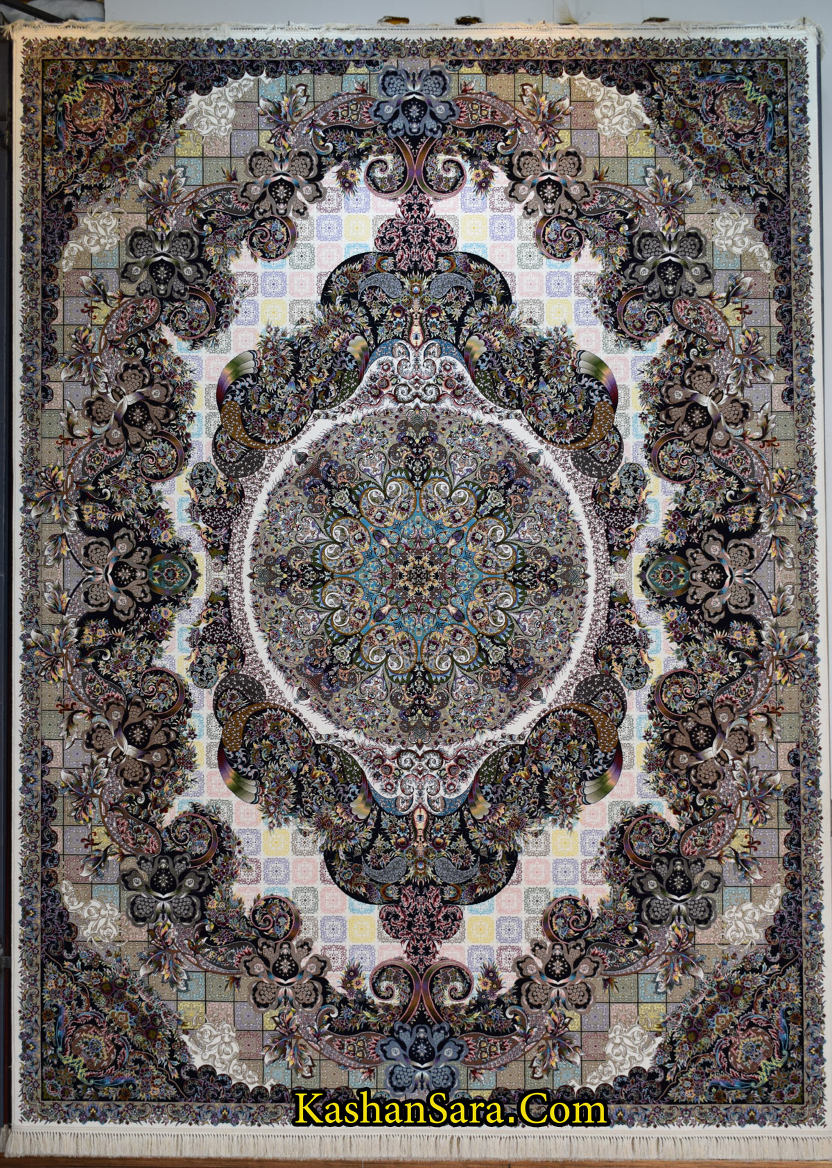 فرش کاشان طرح آنتیک ۱۰۰۰ شانه