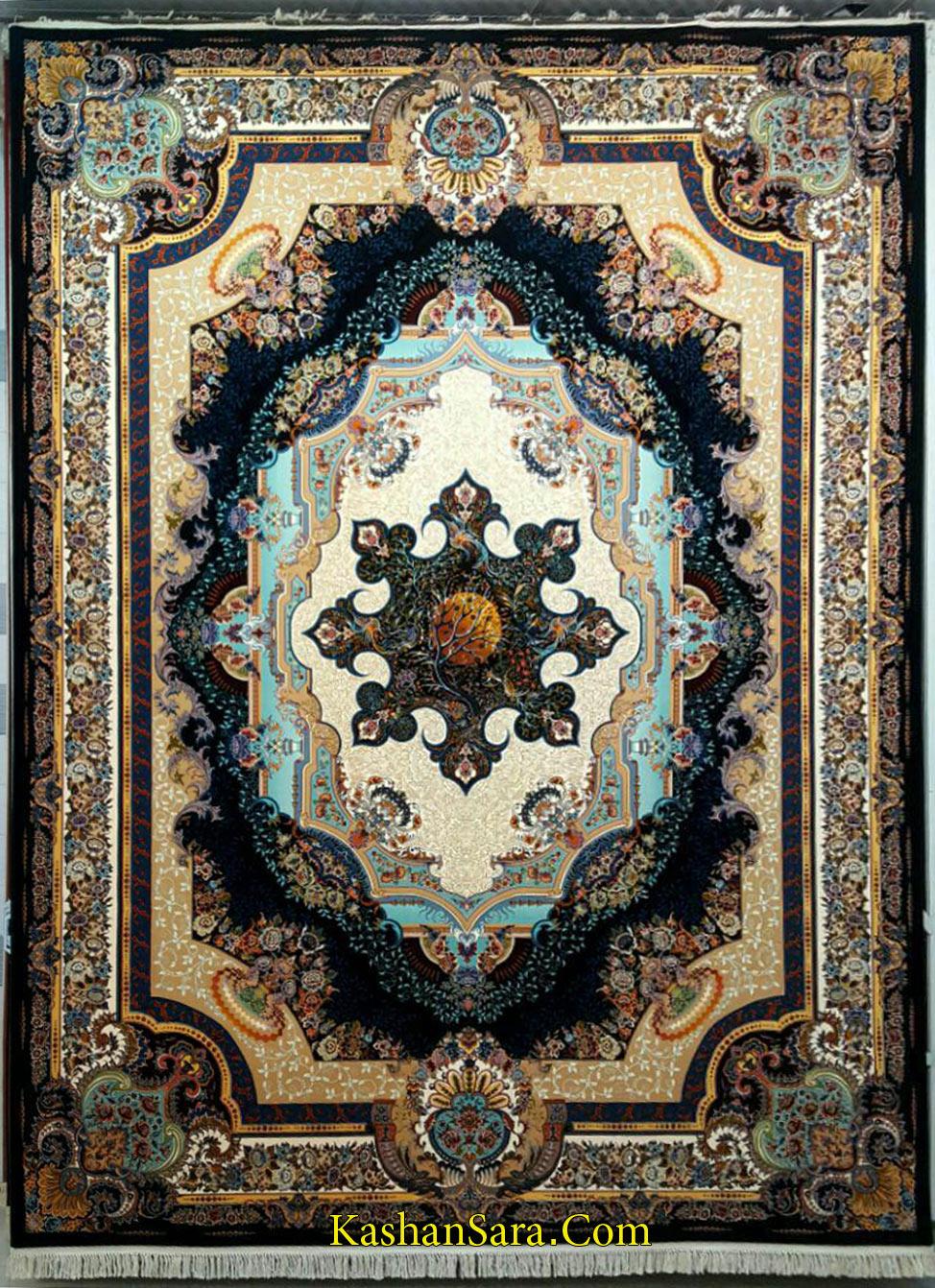 فرش کاشان طرح ساغر ۱۰۰۰ شانه