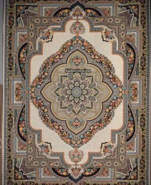 فرش کاشان مدل باغ مقرنس