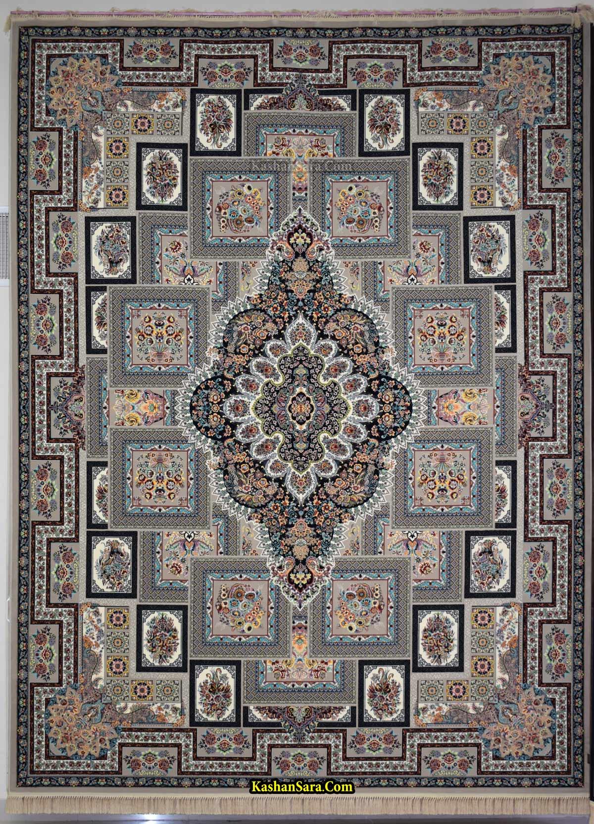 فرش ۱۲۰۰ شانه کاشان طرح یگانه